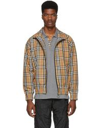 Burberry - Yellow Vintage Check Lightweight Jacket - Lyst