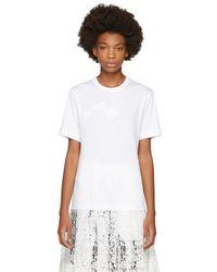 Simone Rocha - White Padded Daisy T-shirt - Lyst
