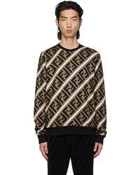 Fendi ブラック & ブラウン Forever スウェットシャツ - マルチカラー