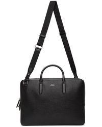 Smythson Large Panama Lightweight Briefcase - Black