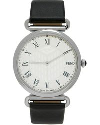 Fendi ブラック & シルバー Palazzo 腕時計