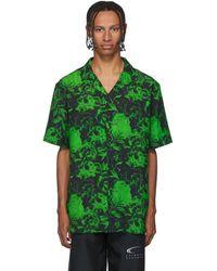Axel Arigato Black And Green Resort Short Sleeve Shirt