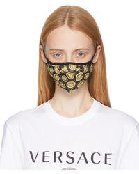 Versace ブラック & ゴールド Medusa マスク - マルチカラー