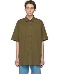 Dries Van Noten - Khaki Oversized Compton Shirt - Lyst