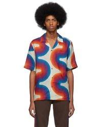 Dries Van Noten - Off-white Verner Panton Edition Wave Carlton Bowling Shirt - Lyst