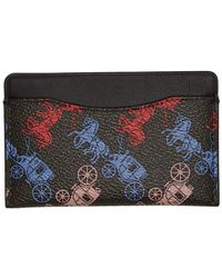 COACH Black Horse And Carriage Small Card Holder