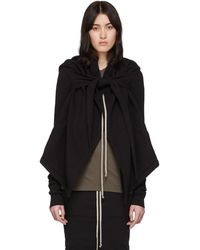 Rick Owens Drkshdw Pull noir Oversized Cropped Wrap