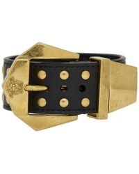 Versace - Black Hardware Buckle Bracelet - Lyst