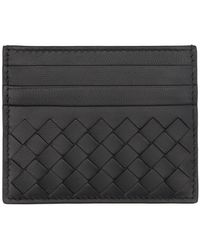Bottega Veneta Black Intecciato Card Holder