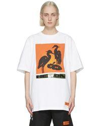 Heron Preston - ホワイト And オレンジ Nightshift T シャツ - Lyst