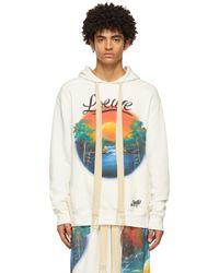 Loewe Paula's Ibiza コレクション ホワイト Airbrush プリント フーディ