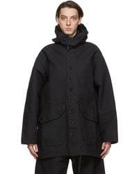 Engineered Garments ブラック ツイル Madison コート