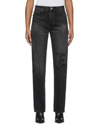 RE/DONE Black High-rise Loose Jeans