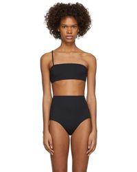 Rudi Gernreich - Black One Strap Bandeau Bikini Top - Lyst