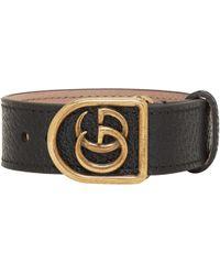 Gucci | Black Gg Marmont Bracelet | Lyst