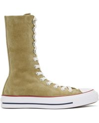 JW Anderson - Tan Converse Edition Suede Chuck Taylor High-top Sneakers - Lyst