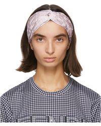 Fendi Pink Forever Knot Headband - Blue