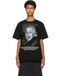 Sacai ブラック Einstein T シャツ