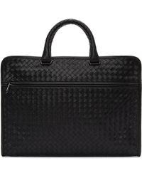 Bottega Veneta | Black Classic Intrecciato Briefcase | Lyst