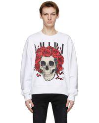 Amiri Grateful Dead コレクション ホワイト Skull Crew スウェットシャツ