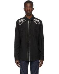 DOUBLE RAINBOUU ブラック Western シャツ