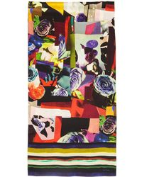 Paul Smith - Multicolour Rose Collage Scarf - Lyst
