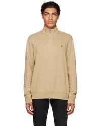 Polo Ralph Lauren ベージュ ロゴ ジップ セーター - ナチュラル