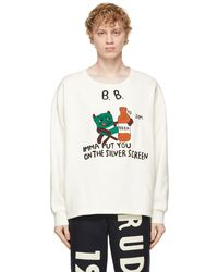 Bode White 'silver Screen' Sweatshirt