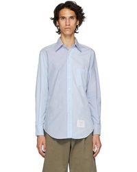 Thom Browne - Blue Funmix Classic Point Collar Shirt - Lyst