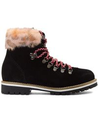 Mr & Mrs Italy Black & Pink Pedule Boots