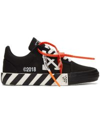 Off-White c/o Virgil Abloh - Baskets rayees noires Vulcanized - Lyst