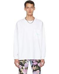 Martine Rose T-shirt à manches longues Warung blanc