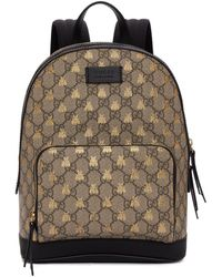 7411ebc6bd60 Gucci Brown Nylon   Leather Bamboo Backpack in Black - Lyst