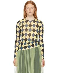 Molly Goddard Yellow And Gray Freddie T-shirt - Multicolor