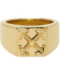 Off-White c/o Virgil Abloh Gold Arrow Ring - Metallic