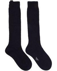 Valentino Garavani Navy Undercover Edition Socks - Blue