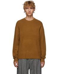 Acne Studios Brown Cashmere And Wool Peele Jumper