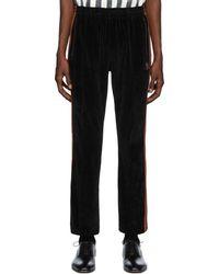 Needles Black Velour Narrow Track Pants