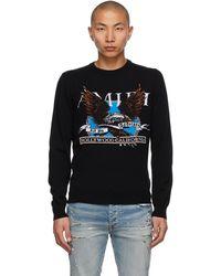 Amiri ブラック カシミア Eagle Intarsia セーター
