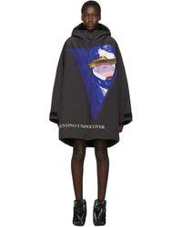 Undercover Valentino Edition ブラック フード コート