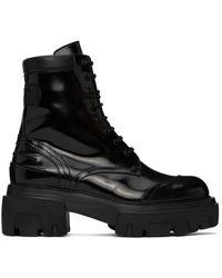 MSGM コンバット ブーツ - ブラック