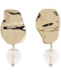 Proenza Schouler - Gold And Clear Bead Earrings - Lyst