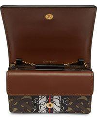 Burberry Brown E-canvas Jessie Monogram Card Case Bag