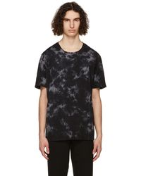 FRAME Black Tie-dye T-shirt