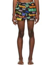 Gucci - Black And Multicolor Metal Mix Swim Shorts - Lyst
