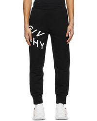 Givenchy - ブラック Refracted ロゴ スウェットパンツ - Lyst