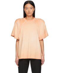 Y. Project T-shirt orange à épaules ruchées - Multicolore