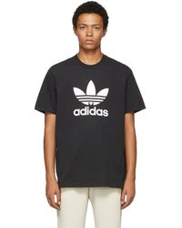 adidas Originals - Black Trefoil T-shirt - Lyst
