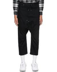 Fumito Ganryu Five-pocket Sirwal Jeans - Black