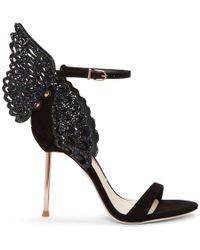 Sophia Webster - Evangeline Crystal-embellished Satin Sandals - Lyst